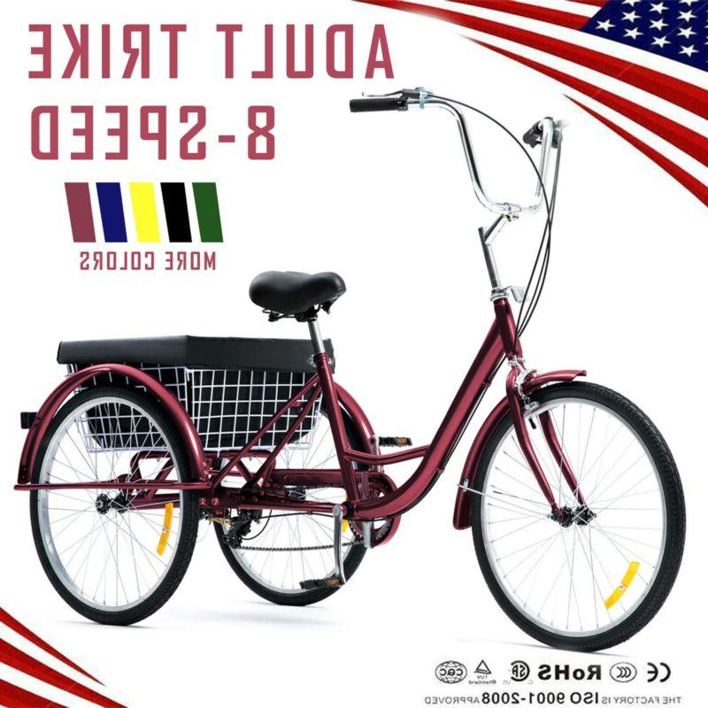 26 24 20 8 speed adult tricycle