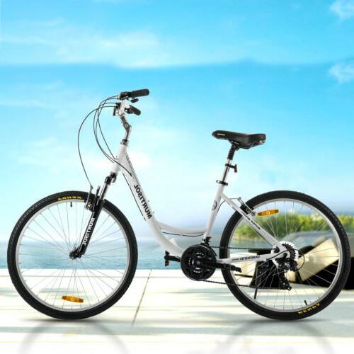 "26"" Women City Road Bike Aluminum 21 Speeds Front Suspension"