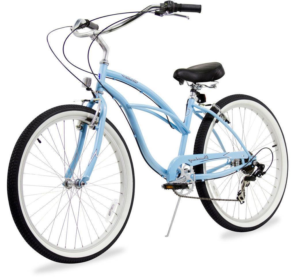 "24"" Beach Cruiser Bike Bicycle Firmstrong Urban women 7 spee"