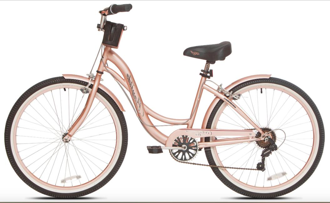 Tall Womens 26 Inch Stylish Cruiser Bike Low Step-through Bi