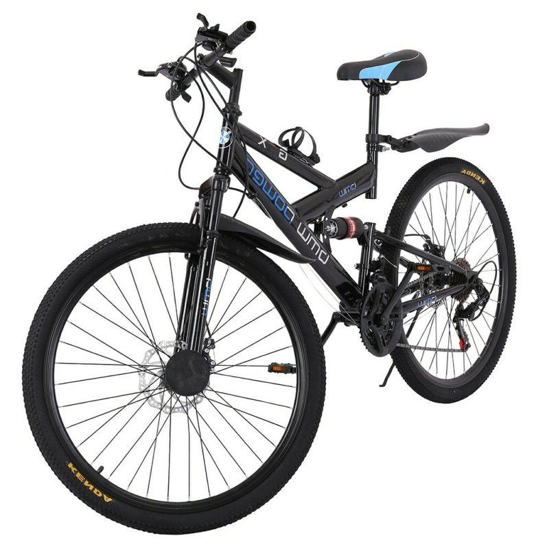 26in Shimanos 21 Speed Mountain Bike Bicycle Full Suspension