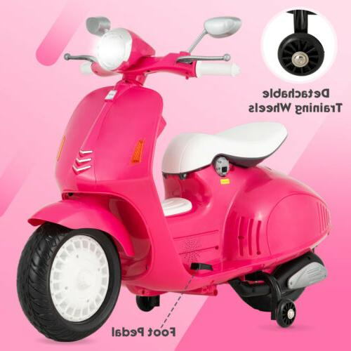 12V Kids Electric Scooters Ride On Car Foot Pedal Battery Mo