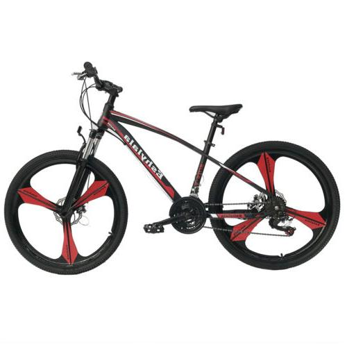 "26""Full Wheel Mountain Bike Bicycle 21Speed Front Suspension"