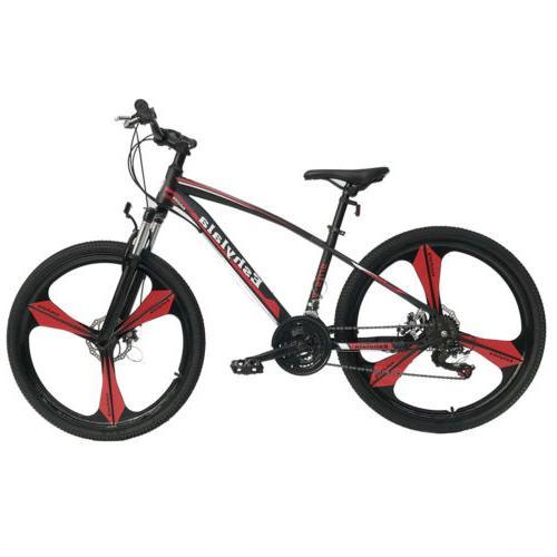 "26""Full Wheel Mountain Bike Bicycle 21Speed Front Suspension"