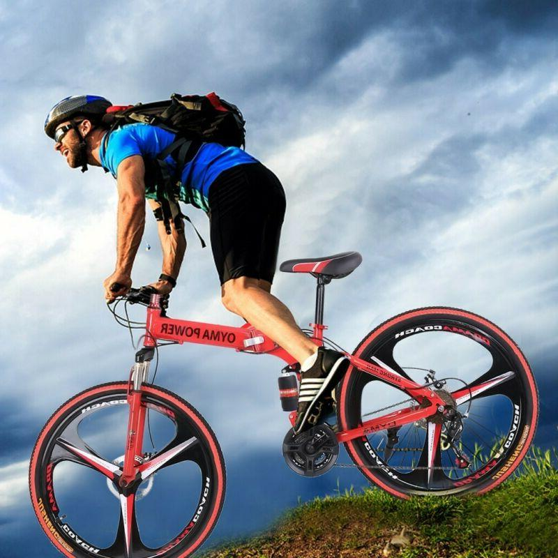 "Full Suspension Mountain Bike 26""Wheel 21 Speed Bicycle Disc"