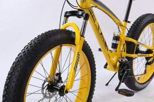 26 Inch 21 4.0 Fat Tire Snow Sand Dual Shock