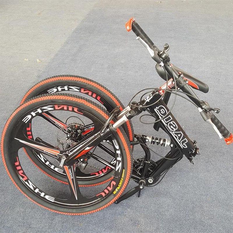 26 21 speed mountain <font><b>bicycle</b></font> double disc brake bike