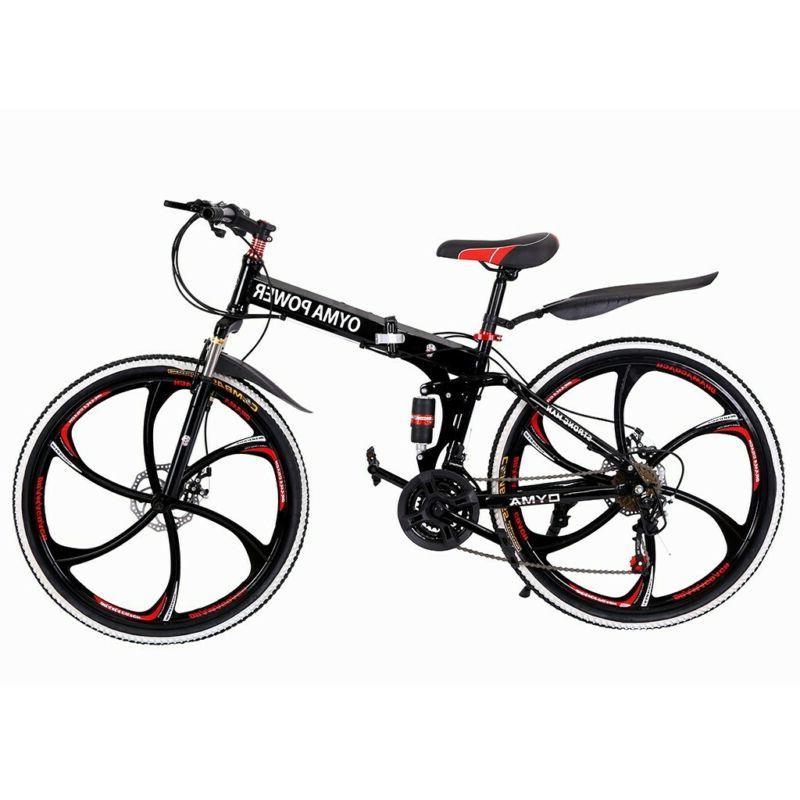 Mountain Bike 21 Speed 26 inch Folding Double Disc Brake