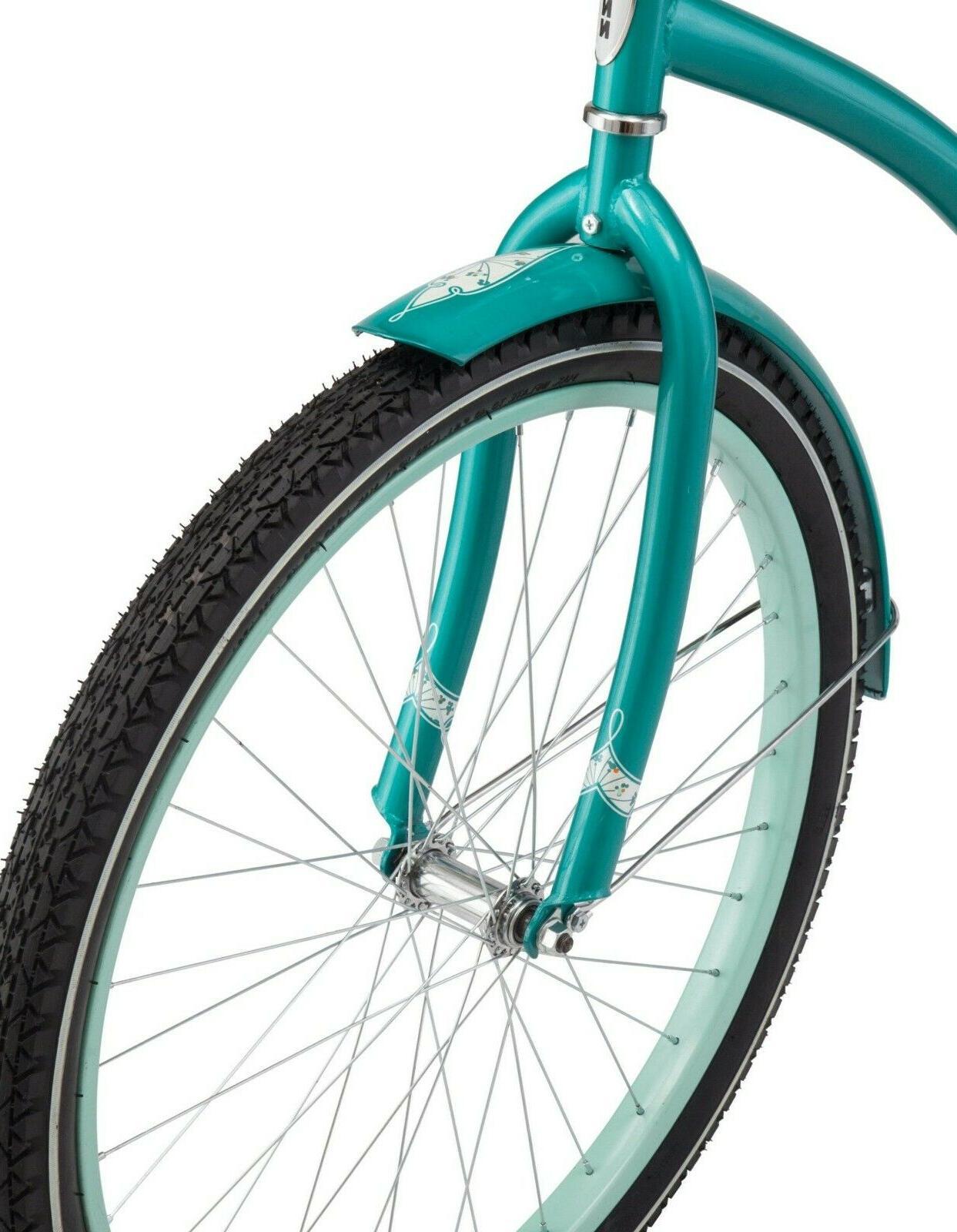 """26"""" Women's Cruiser Bike Steel Comfort Ride, Teal"""