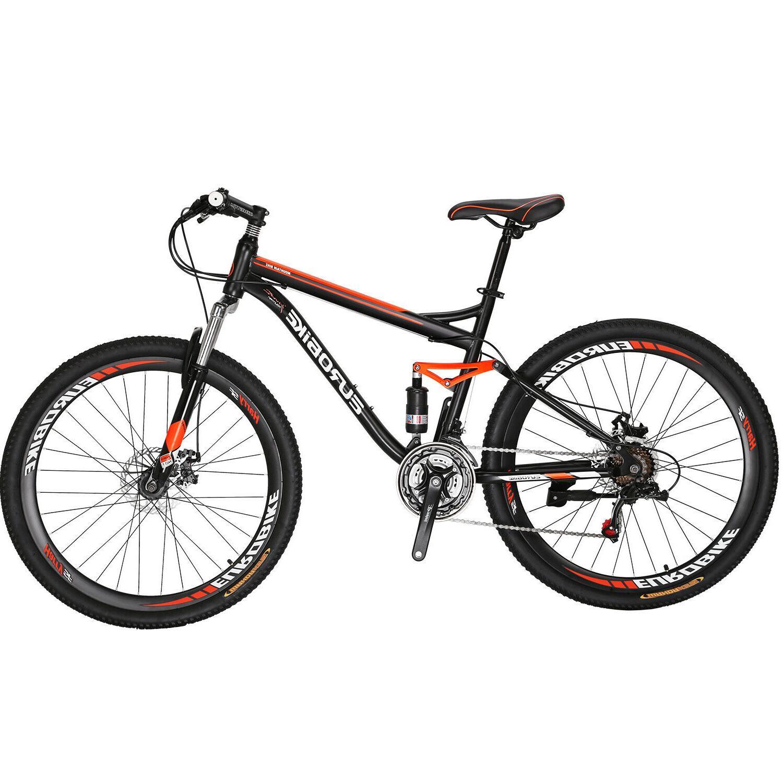"27.5"" Full Mountain Bike Shimano 21 Mens Bikes"
