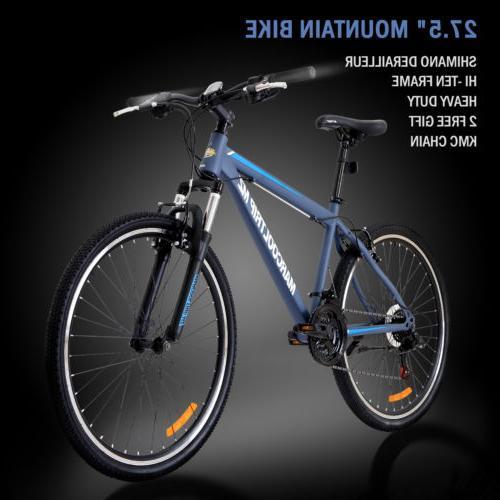 """27.5"""" Men's Mountain Bike Shimano Hybrid 21 Speed Brake Susp"""