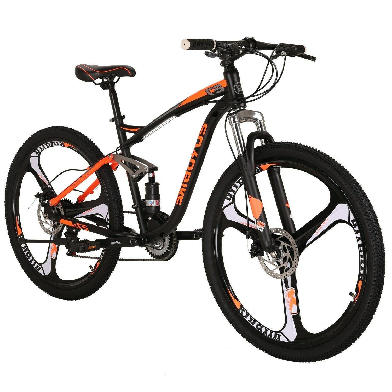 """Full Suspension Mountain Shimano 21 Brake Mens Bicycle MTB 27.5"""""""