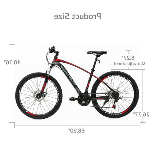 "27.5"" Bike Bicycles Brakes 21 Speeds Blue Black"