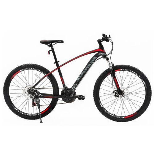 "27.5"" Front Mountain Bike Bicycles Brakes 21 Speeds Blue"