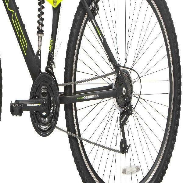 Genesis Incline Men's Mountain Bike, Black/Yellow