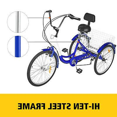 "3-Wheels 24"" Tricycle Shimano w/ Basket"