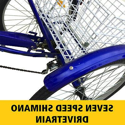3-Wheels Tricycle w/ Basket