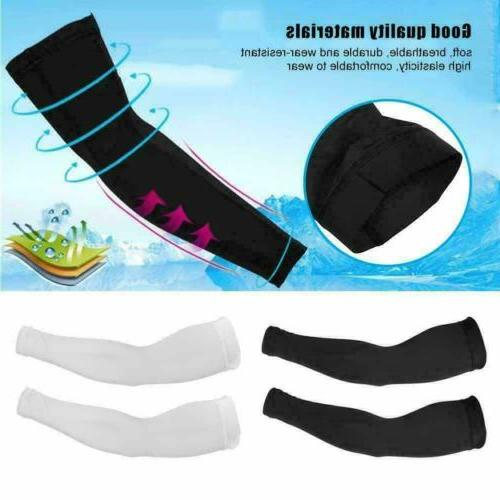 4 pcs Arm Sleeves Cover Bike UV Sun Protection USA
