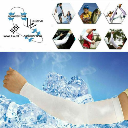 4 pcs Cooling Arm Sleeves Bike Sport Protection USA