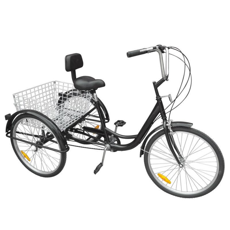 """3-Wheels Trike 24"""" Adult Tricycle 6-Speed Shimano Men's/wome"""