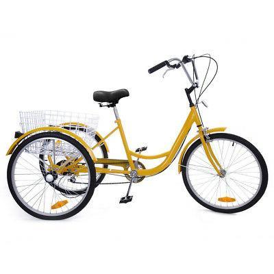 7-Speed 3-Wheel Tricycle Bicycle Bike W/