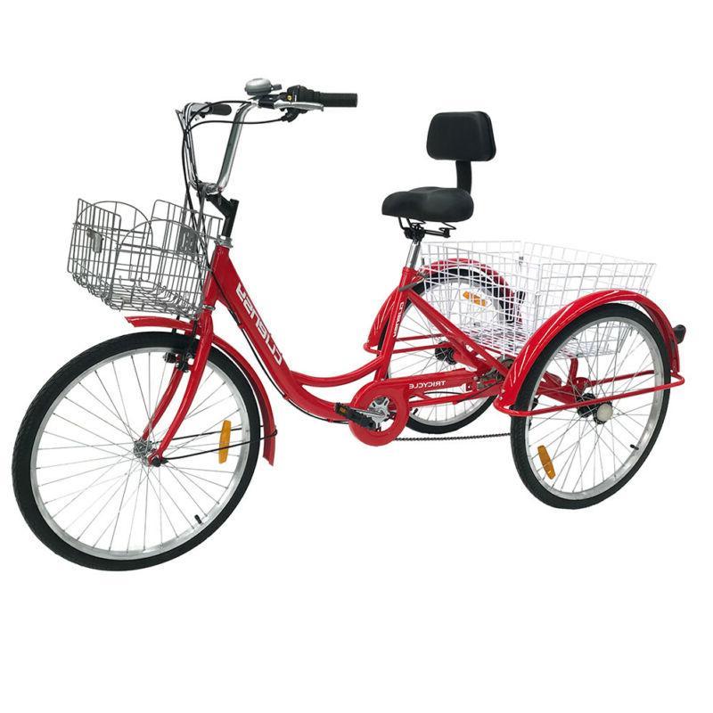 """7-Speed Adult 20"""" / 26""""  3-Wheel Tricycle Trike Bike Bicycle"""