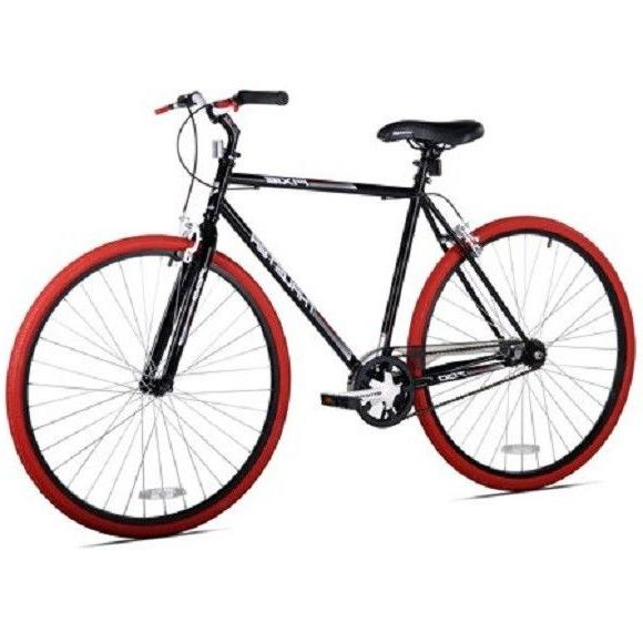 700c men s fixie bike black red