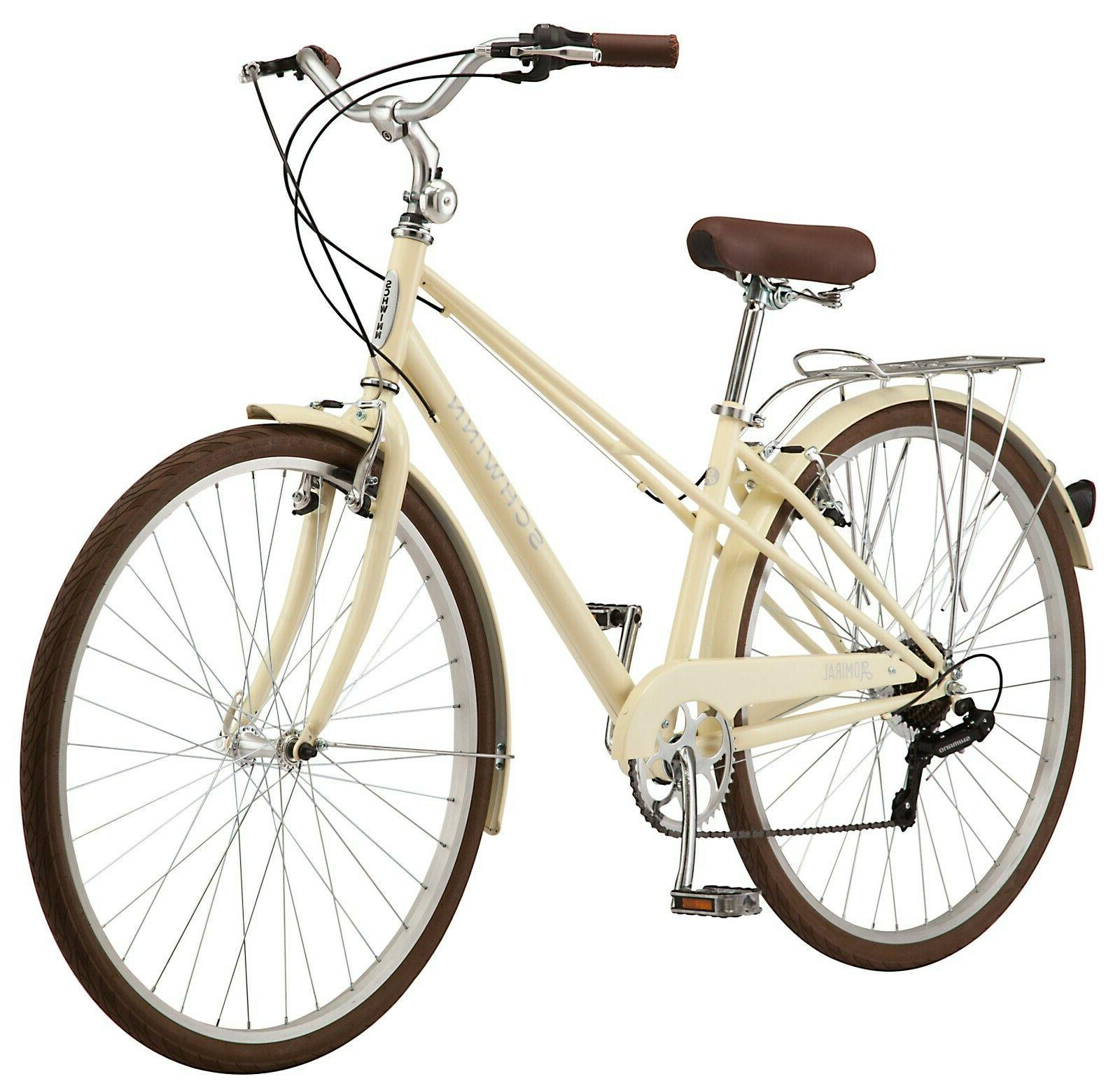 Schwinn Admiral Hybrid Bike, 7-speeds, 700c wheels, White/Cr