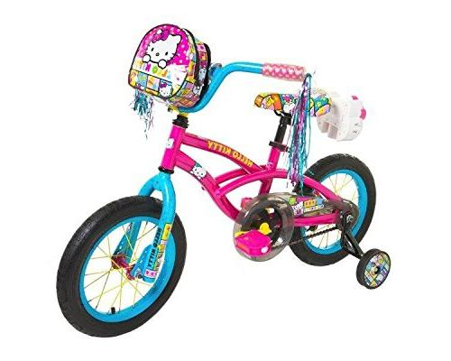 Dynacraft 8048-15ZTJ Girls Hello Kitty Bike, Pink/Blue, 14-I