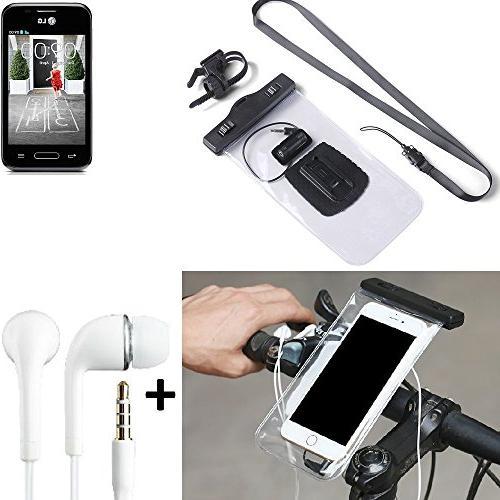 K-S-Trade for LG L40 Bicycle Bracket Mobile Phone Holder Han