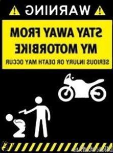 WARNING STAY AWAY FROM MY MOTORBIKE HELMET STICKER HARD HAT