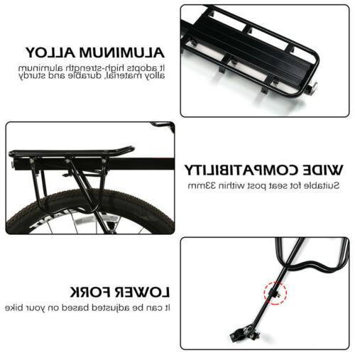 Adjustable Bicycle Mounted Cargo Rack for Disc