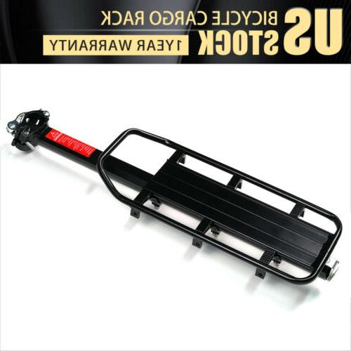adjustable bicycle rear frame mounted cargo rack