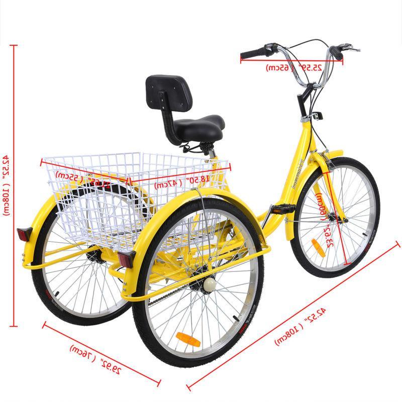 "24"" Adult Tricycle Shimano Speed Trike Bike Cruiser"