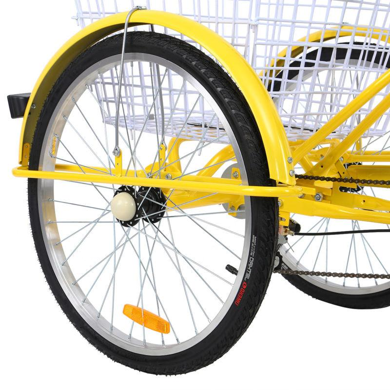 Adult 7-Speed Tricycle Trike Bicycle Bike Cruise With