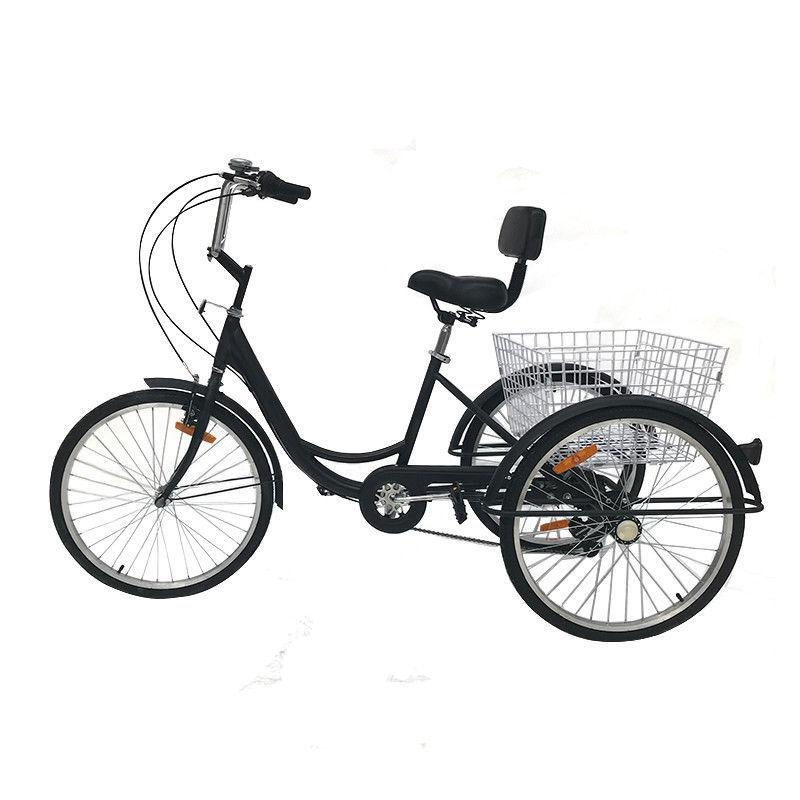 "Adult 24"" 3-Wheel Tricycle Bike Cruise With H"