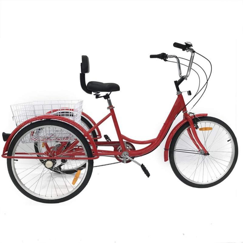 Adult 3-Wheel Tricycle Trike Bike Cruise With H