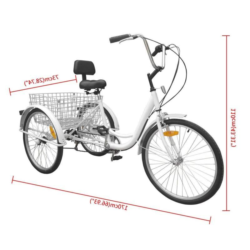 Adult Adult 3-Wheel Trike Bicycle Bike H