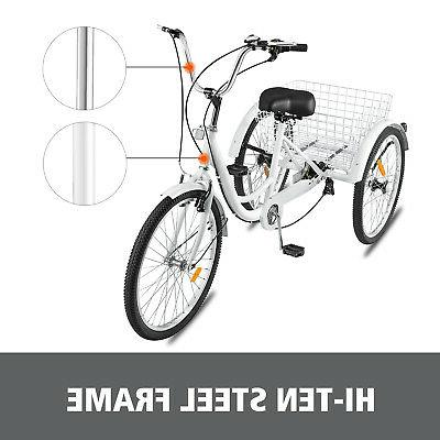 Shimano 7-Speed 3-Wheel Tricycle Bicycle Bike Cruise With