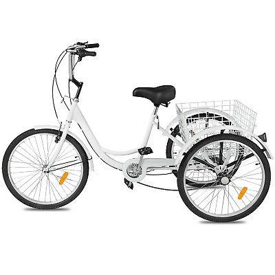 Shimano 7-Speed 3-Wheel Tricycle Trike Bicycle Bike Cruise With