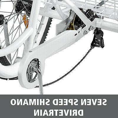 """Adult Tricycle 3-Wheels 24"""" Tricycle"""