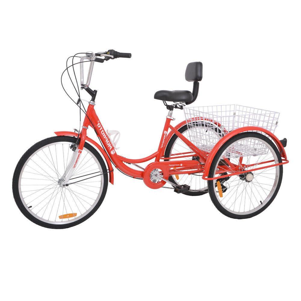 Adult Unisex Three  Wheeled Trike Tricycle 24 Inch Wheels Me