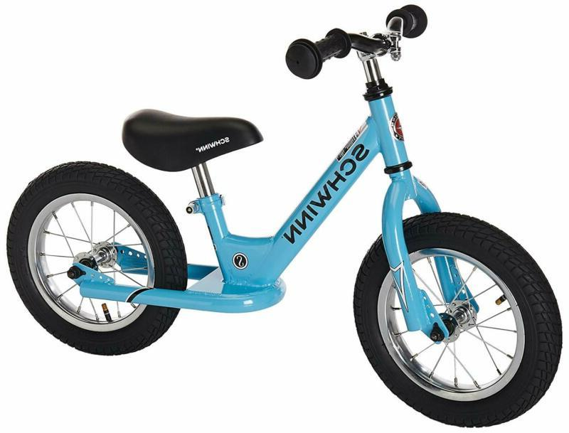 Balance Bike 12 Inches With Soft Cushioned Grips Blue For Ki