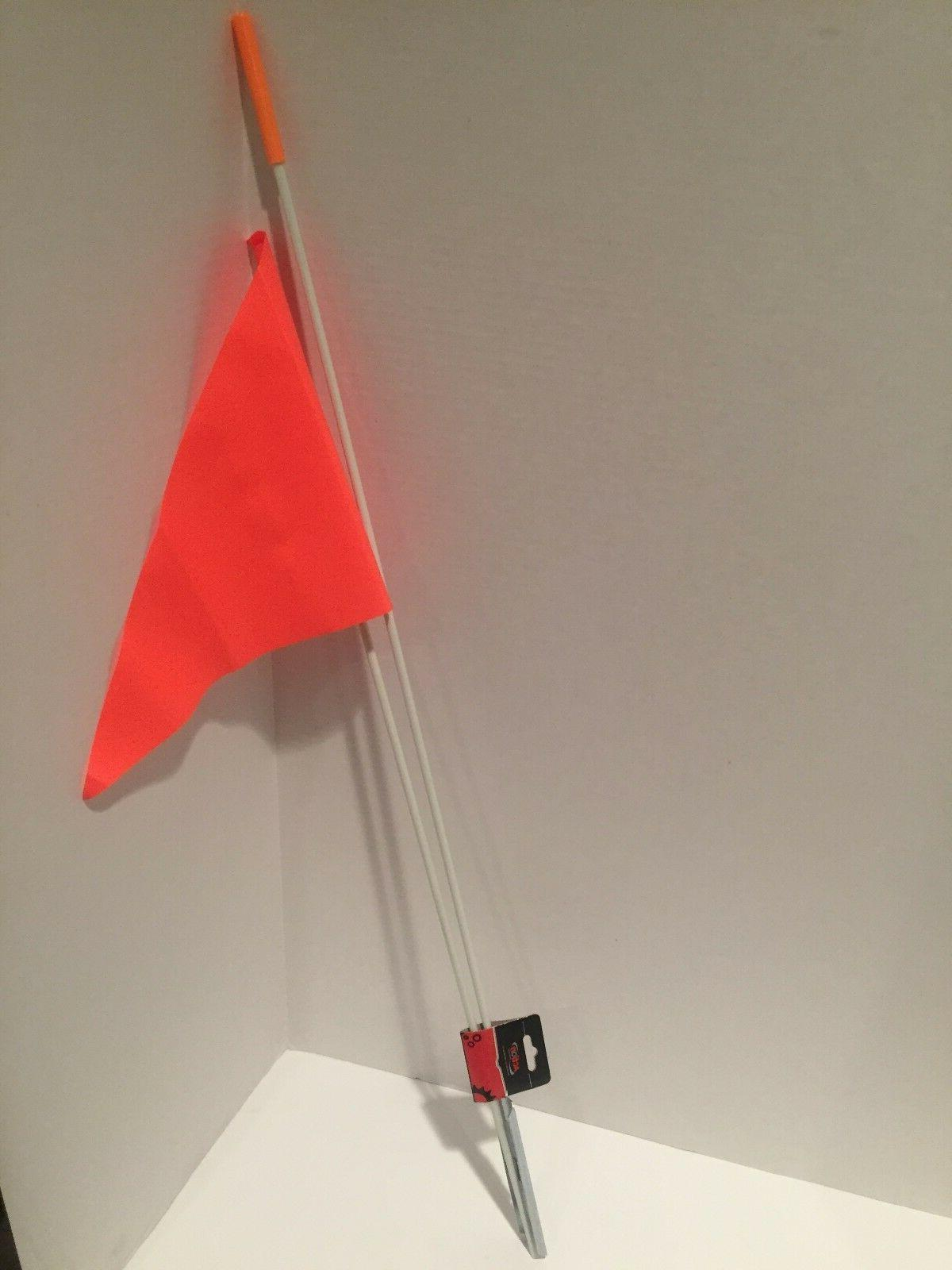 Action Bicycle Safety Flag 59in Orange Bike Axle Mount High