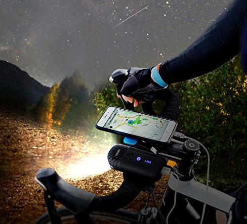 shenkey Bike Rechargeable Bicycle Light + Power Bank, IP65 Headlight for Bike/Flashlight