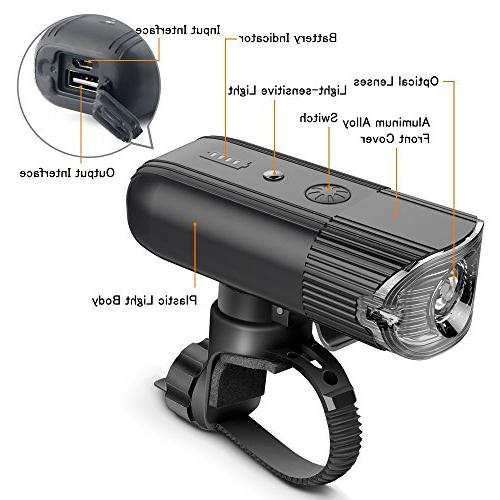 shenkey Lights Rechargeable Power Bank, Super IP65 Headlight for Bike/Flashlight