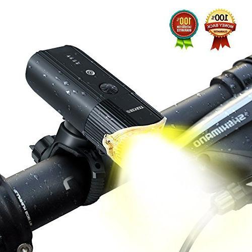 shenkey Rechargeable + Power IP65 Waterproof Headlight Bike/Flashlight