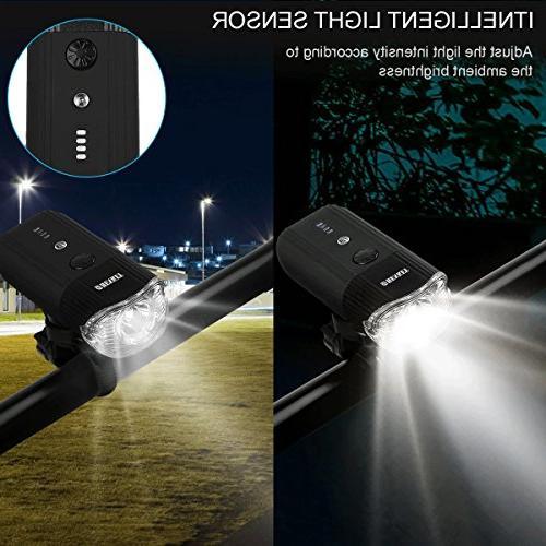 shenkey Rechargeable Power Bright IP65 Headlight Bike/Flashlight