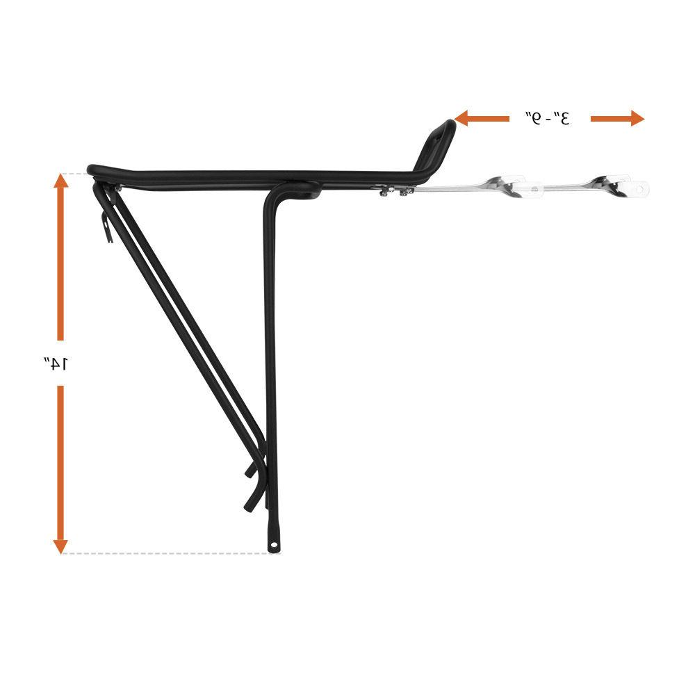 BV Bike Rear Rack Aluminum Carrier Cycling Cargo Racks Bicycle Storage NEW RA18