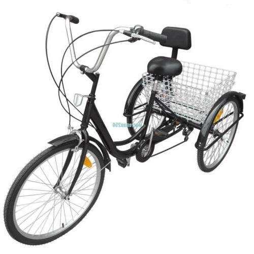 3-Wheel Adult Shimano Trike Basket